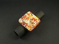 Bague artisanale mini-billes réalisée avec de la résine ultra solide