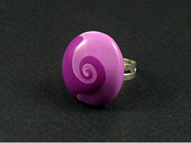 Bague fantaisie tourbillon violet