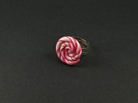 Bague spirale bicolore rose ou violet