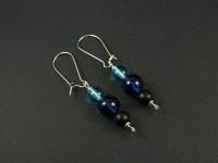 Boucles d'oreilles triple perles