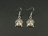 Boucles d'oreille métalliques tête de Bouddha
