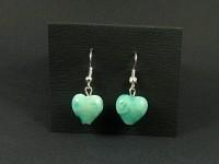 Boucles d'oreilles coeur en verre