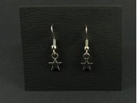 Boucles d'oreilles fantaisie étoiles argentées