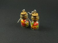 Boucles bocaux de fruits