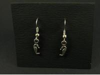 Boucles d'oreilles hippocampes en métal argenté