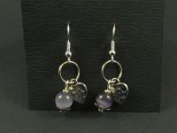 Boucles d'oreilles anneaux perles et breloques