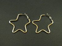 Boucles d'oreille créoles en forme d'étoile