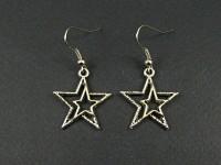 Boucles d'oreille fantaisie double étoile
