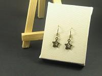Boucles d'oreilles fantaisie bronze étoiles ajourées