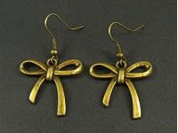 Boucles d'oreilles noeuds couleur bronze