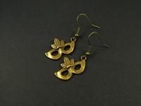 Boucles d'oreilles couleu bronze masques