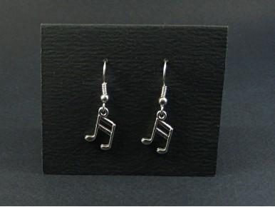 Boucles d'oreilles fantaisie métalliques double croche