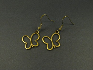 Boucles d'oreilles papillons stylisés