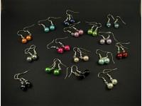 Boucles d'oreilles fantaisie perles nacrées aux couleurs variées