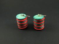Boucles d'oreilles perles de coco plates