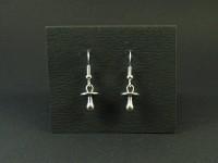 Boucles d'oreilles fantaisie tétines métalliques