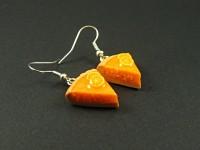Boucles d'oreille parts de tarte à l'orange