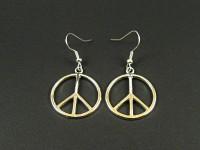 Boucles d'oreilles peace and love argentées