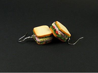 Boucles d'oreilles sandwichs gourmands