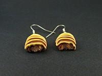 Boucles d'oreilles chocolats fourrés