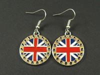Boucles d'oreille drapeau anglais