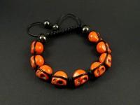 Bracelet perles cranes oranges