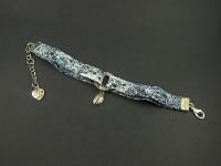 Bracelet liberty bleu foncé avec coccinelle