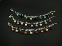 Bracelets fantaisie en chaine métallique décoré de pampilles perles nacrées