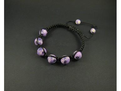Bracelet shamballa violet