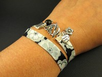 Double bracelet Liberty noir et blanc
