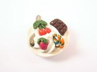 Magnet gourmand assiette blanche