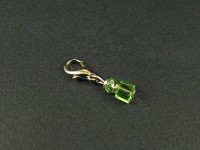 Charm fantaisie avec des perles de verre vertes