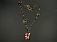 Collier bronze grappe et rosace