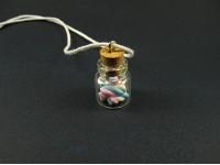 Collier mini bocal rempli de guimauve
