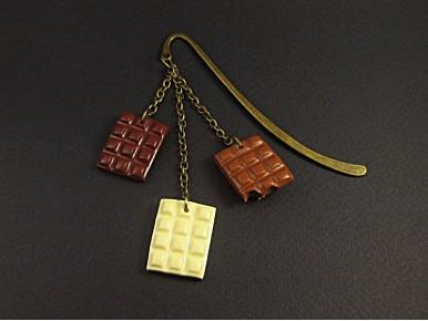 Marque-pages artisanale trio de tablette de chocolat