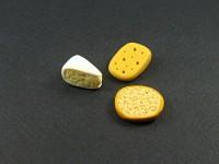 Ensemble de miniatures tartine et morceaux de fromage pour jeux de poupées