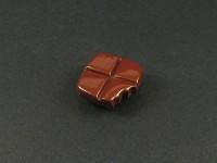 Magnet artisanal carreaux de chocolat croqués