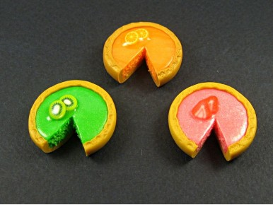 Magnet fruité sous forme de tarte