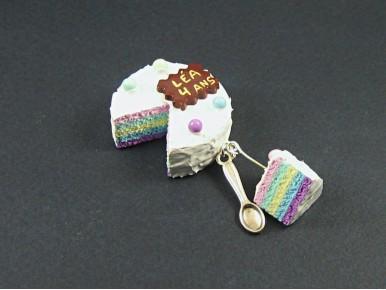 Magnet gâteau d'anniversaire avec inscription personnalisable
