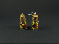 Boucles d'oreilles mini bocal multicolore
