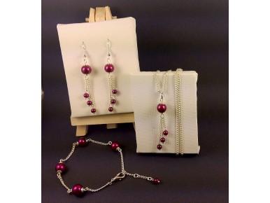Parure perles filantes couleurs variées