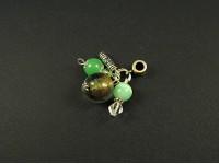 Pendentif perles vertes