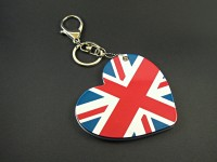Bijou de sac avec miroir coeur anglais et son porte-clé