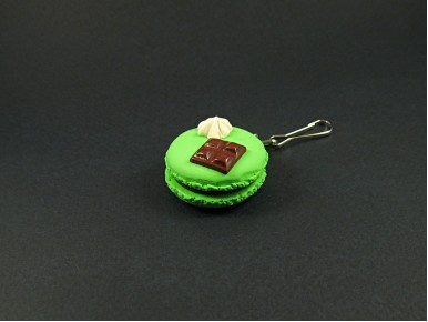 Bijou de sac  macaron vert pistache