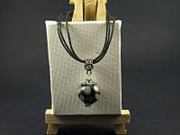 Collier triple cordon avec une perle artisanale SoChic